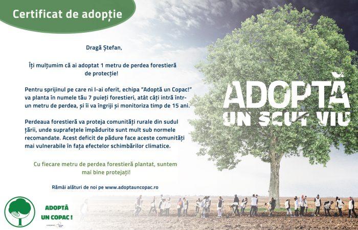 2. S. VR. Certificat adoptie - Campanie 2020 Scut Viu